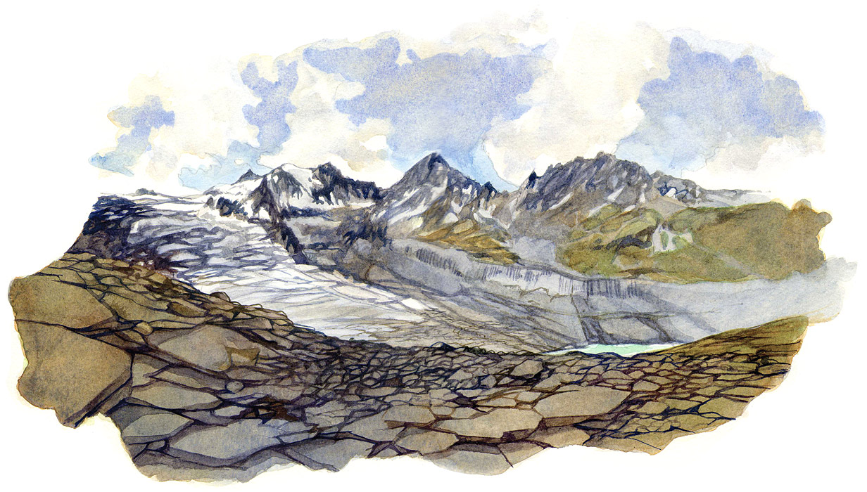 Aquarelle Alpin